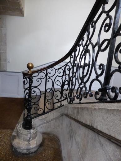 Rampe du grand escalier, détail