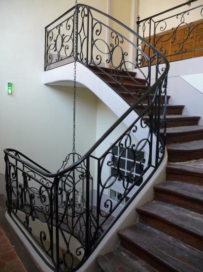 Escalier de service du logis côté jardin