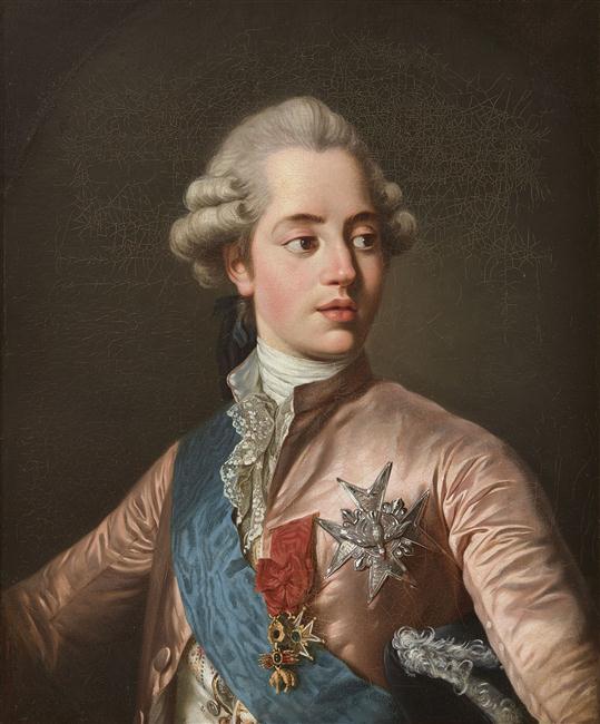 Joseph-Siffred Duplessis : Charles-Philippe de France, comte d'Artois, vers 1779, château de Versailles