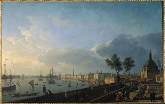Joseph Vernet : le port de Bordeaux depuis le Château-Trompette, 1759