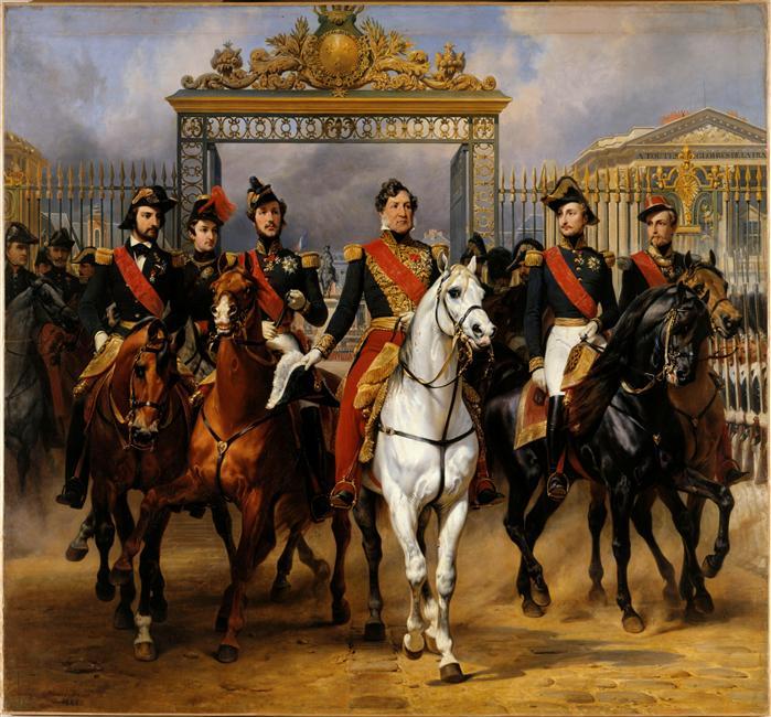 Horace Vernet : Louis-Philippe et ses fils, Château de Versailles, 1846