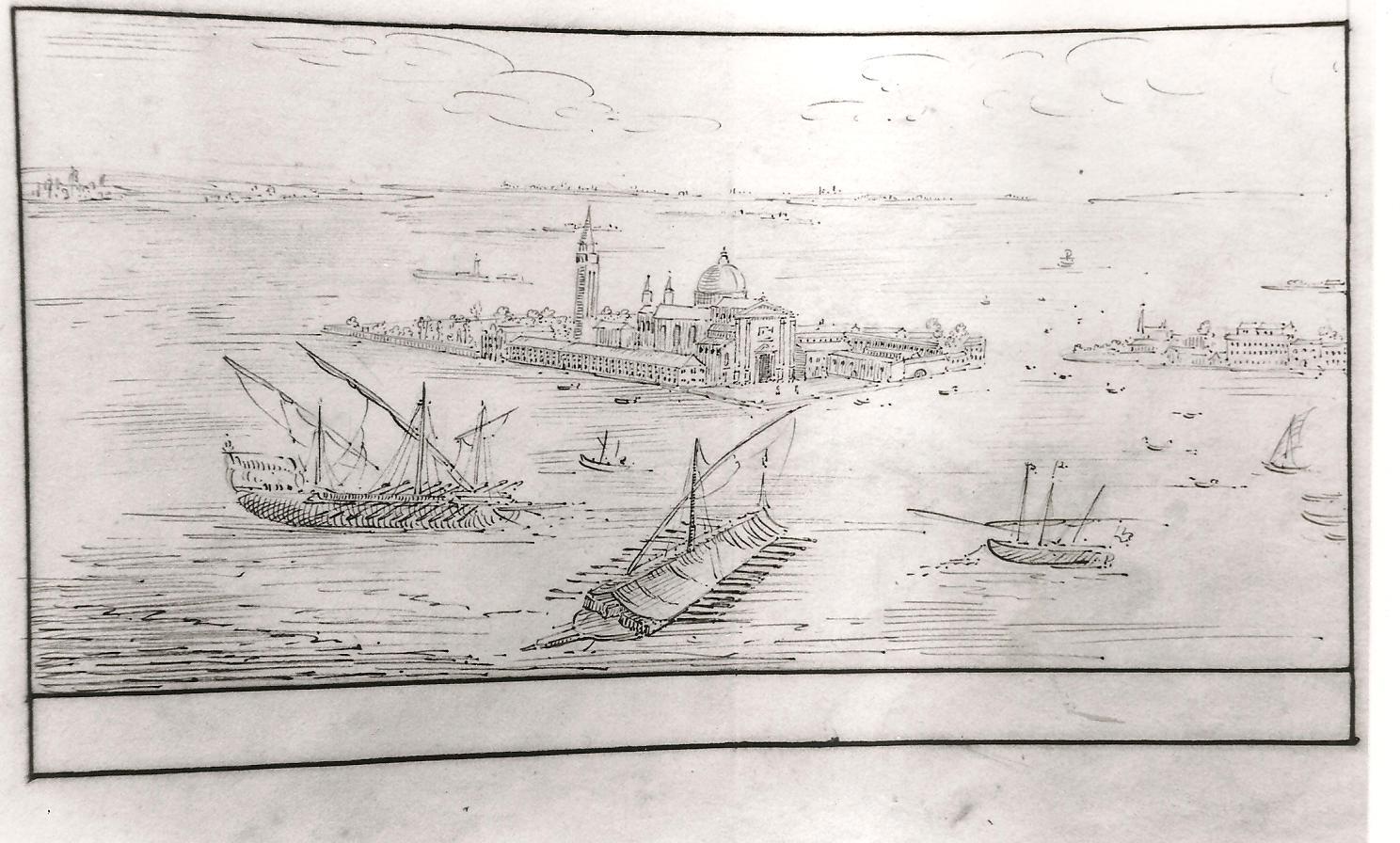 Venise, San Giorgio depuis le campanile de la place San Marco (cl. Ph. Cachau)