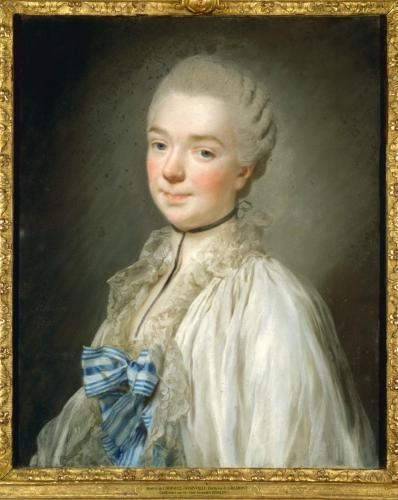 Alexandre Roslin : Beatrice de Choiseul, pastel, XVIIIe siècle