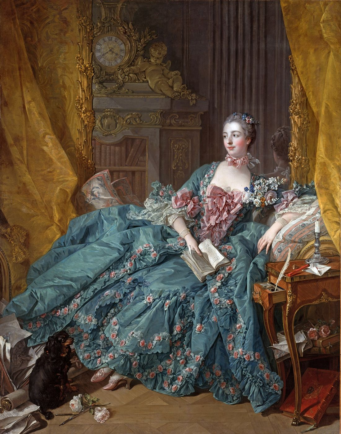 François Boucher, Madame de Pompadour, 1756, Munich