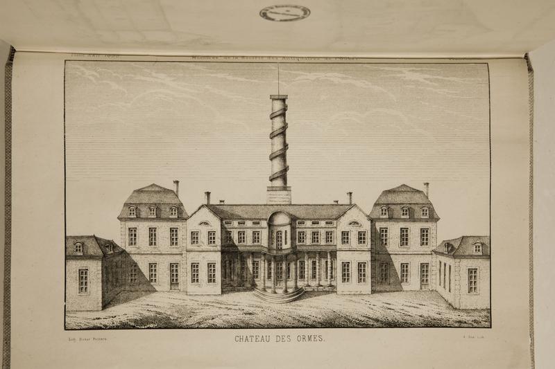 Charles De Wailly, le château des Ormes, côté cour, 1768-1783