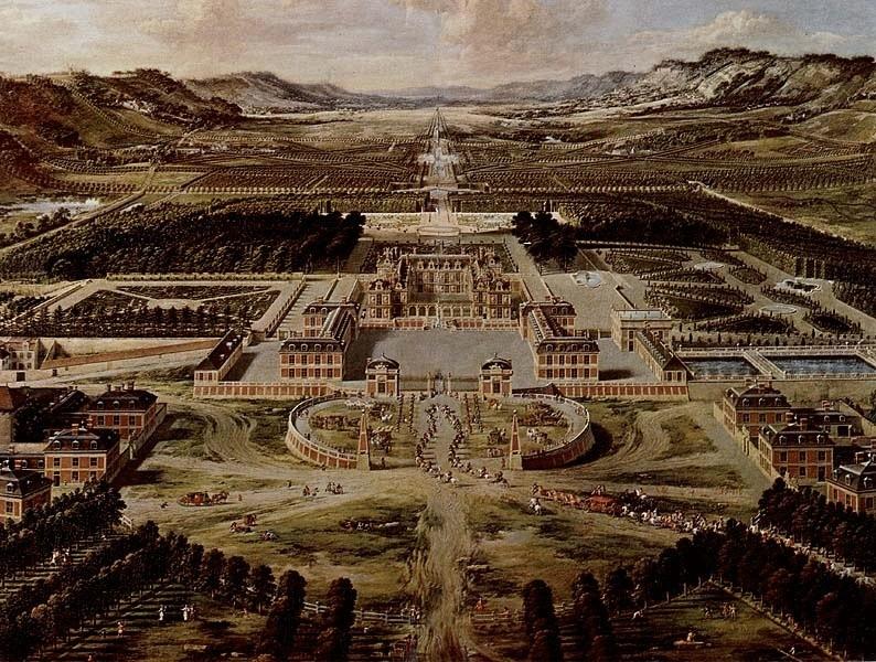 Pierre Patel père : Versailles en 1668, Château de Versailles.
