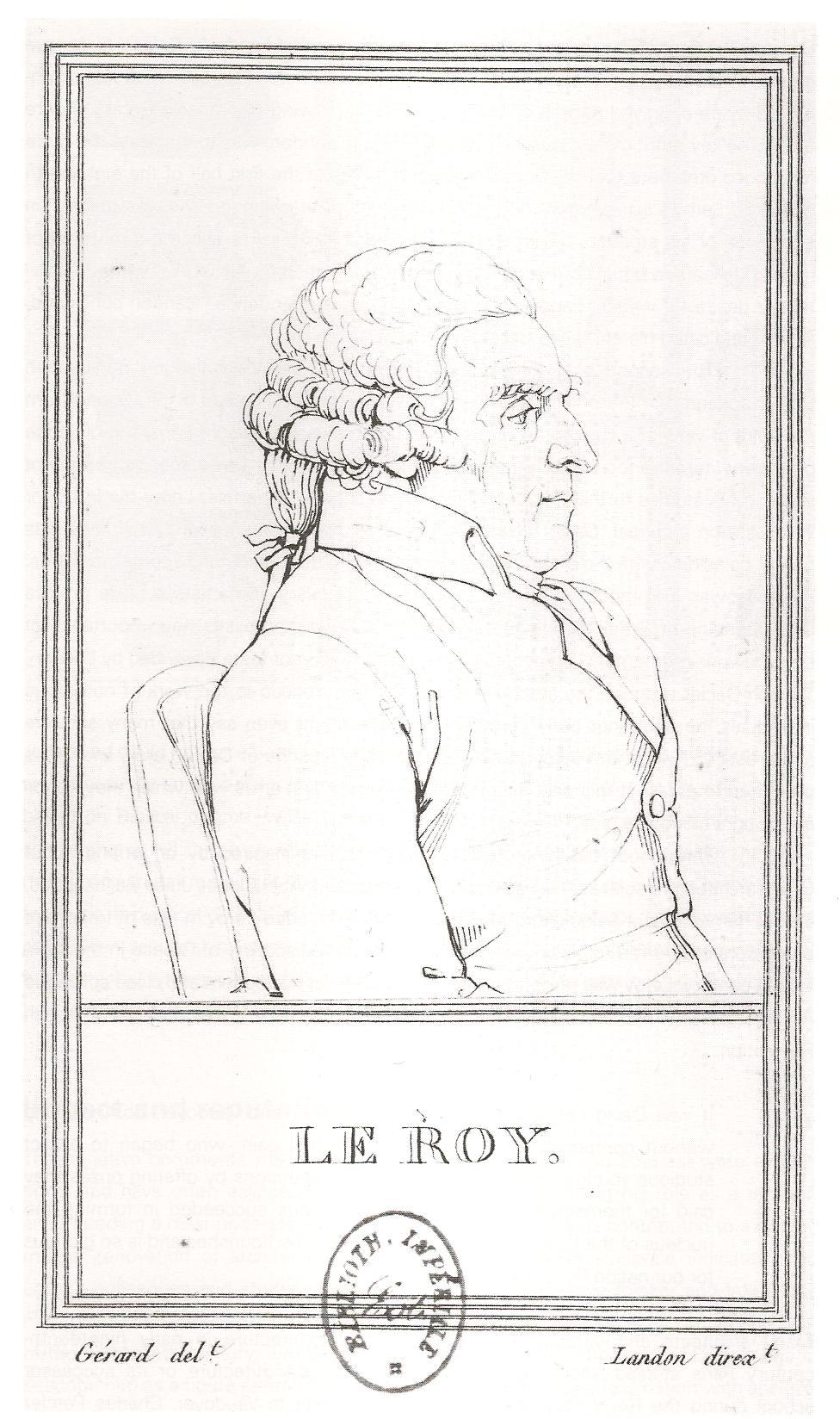François Gérard : Julien-David Leroy, fin XVIIIe