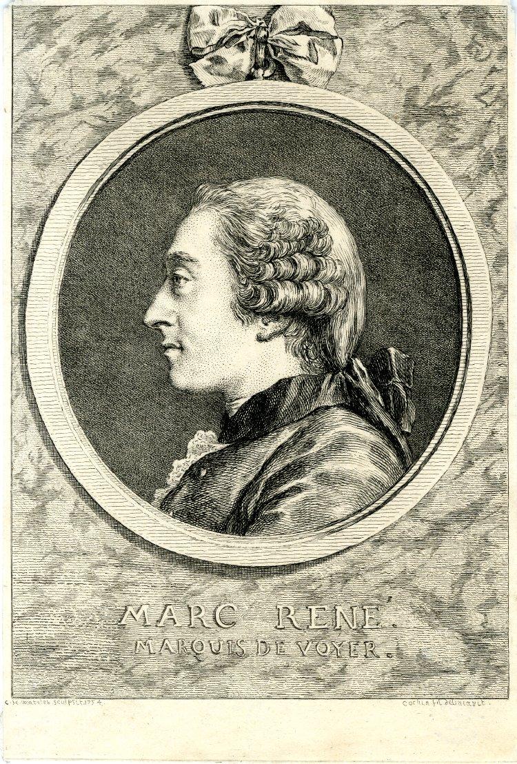 Charles-Nicolas Cochin : Marc-René, marquis de Voyer, Londres, British Museum