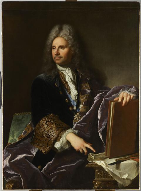 Hyacinthe Rigaud : Robert de Cotte, 1713, Louvre