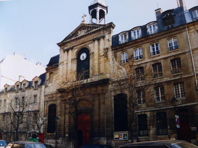 Jacques Hardouin-Mansart de Sagonne : Eglise des Carmes-Billettes, 1754-1758