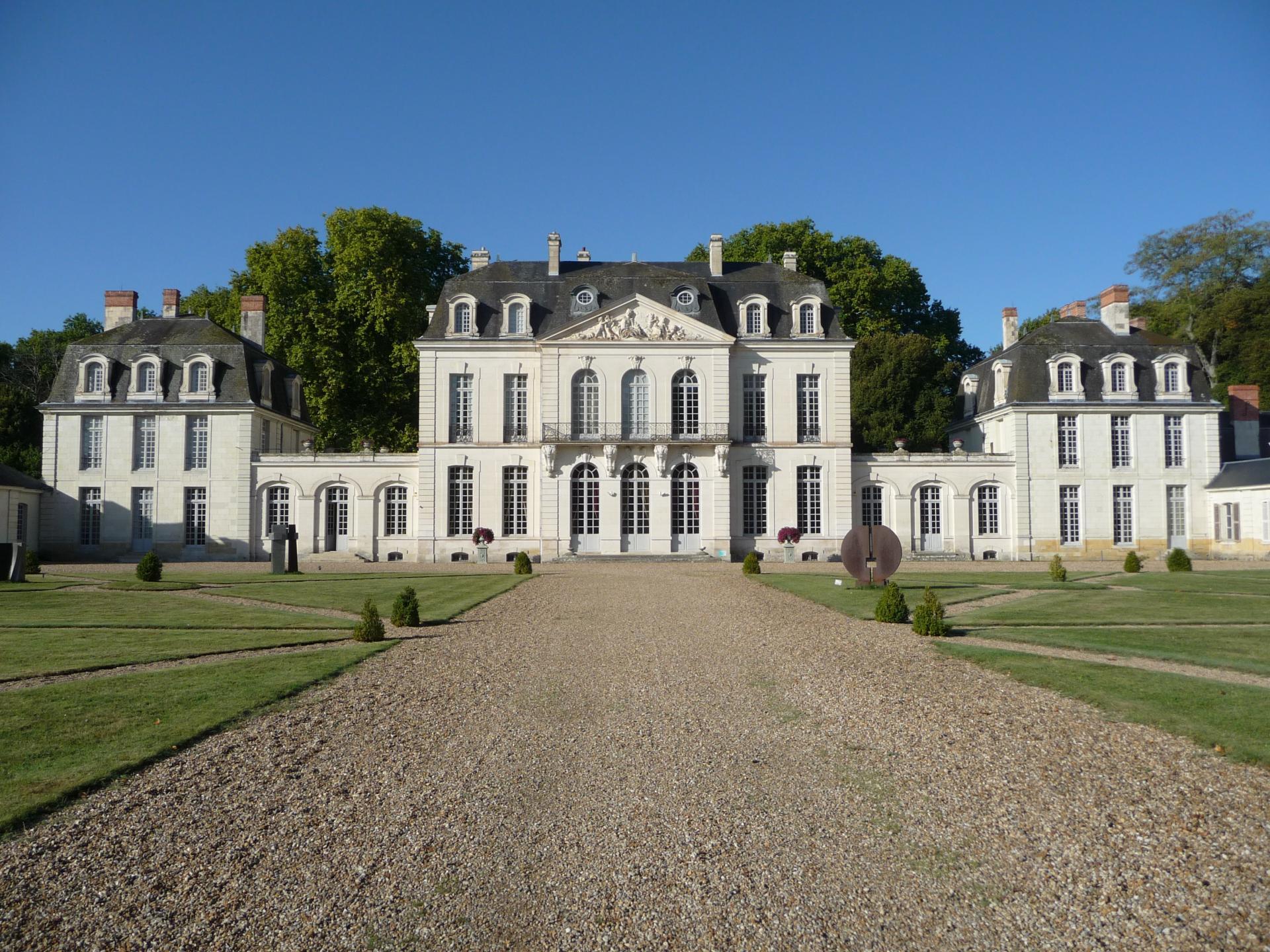 Meusnier - Coulomb : le château des Ormes, côté cour (XVIIIe-début XXe)