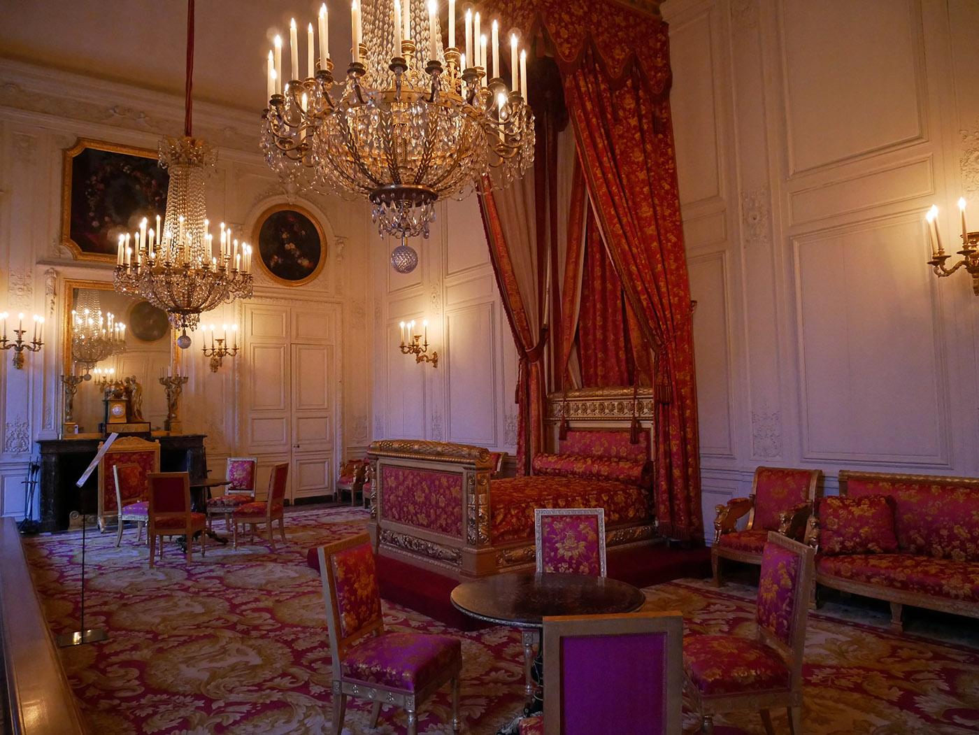 Grand Trianon, chambre de Louise-Marie-Thérèse d'Orléans, reine des Belges