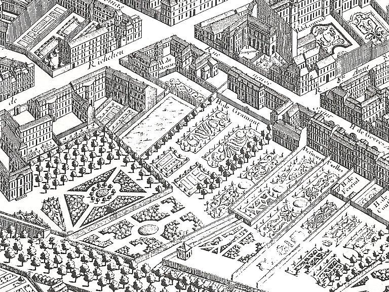 Hotel de Gramont, plan de Bretez dit de Turgot, 1734-1739