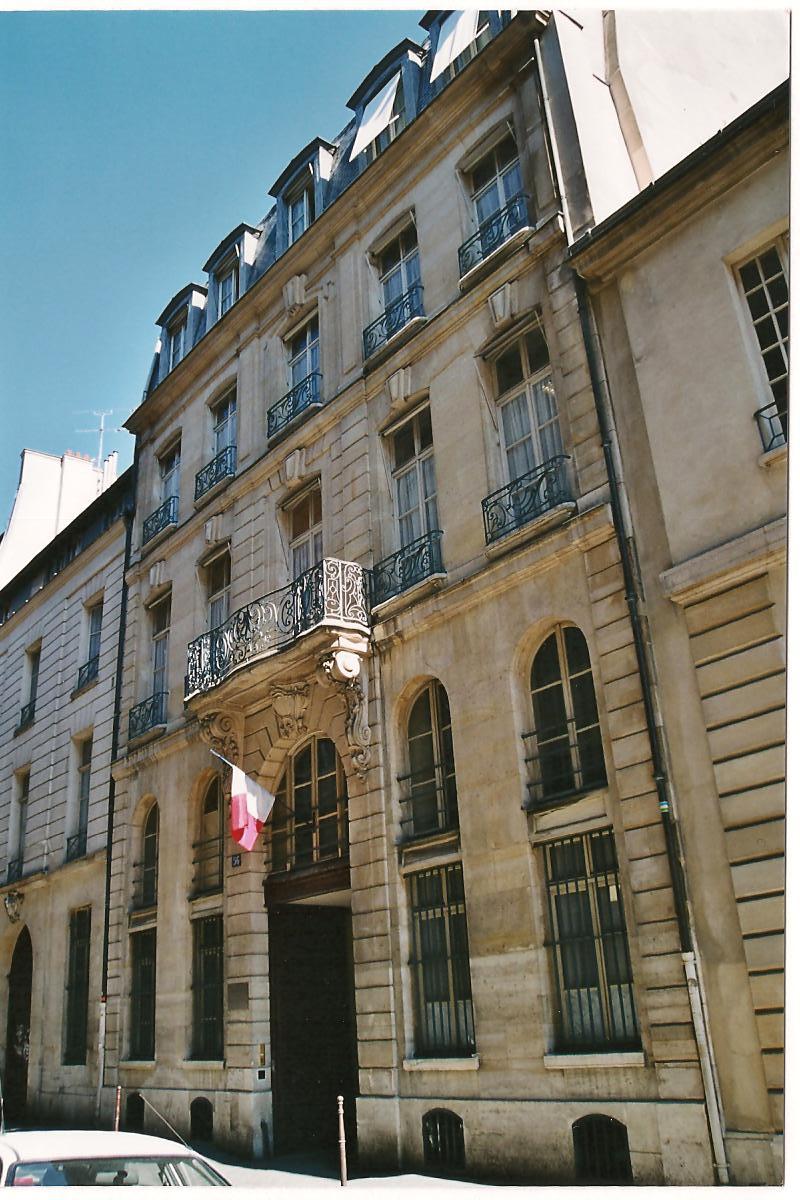Maison Clautrier, 56 rue des Francs-Bourgeois, 1752