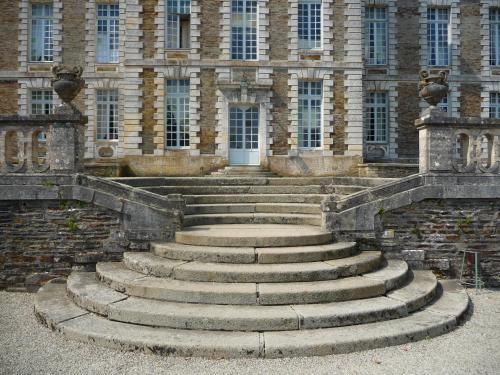 François Mansart, château de Balleroy, escalier