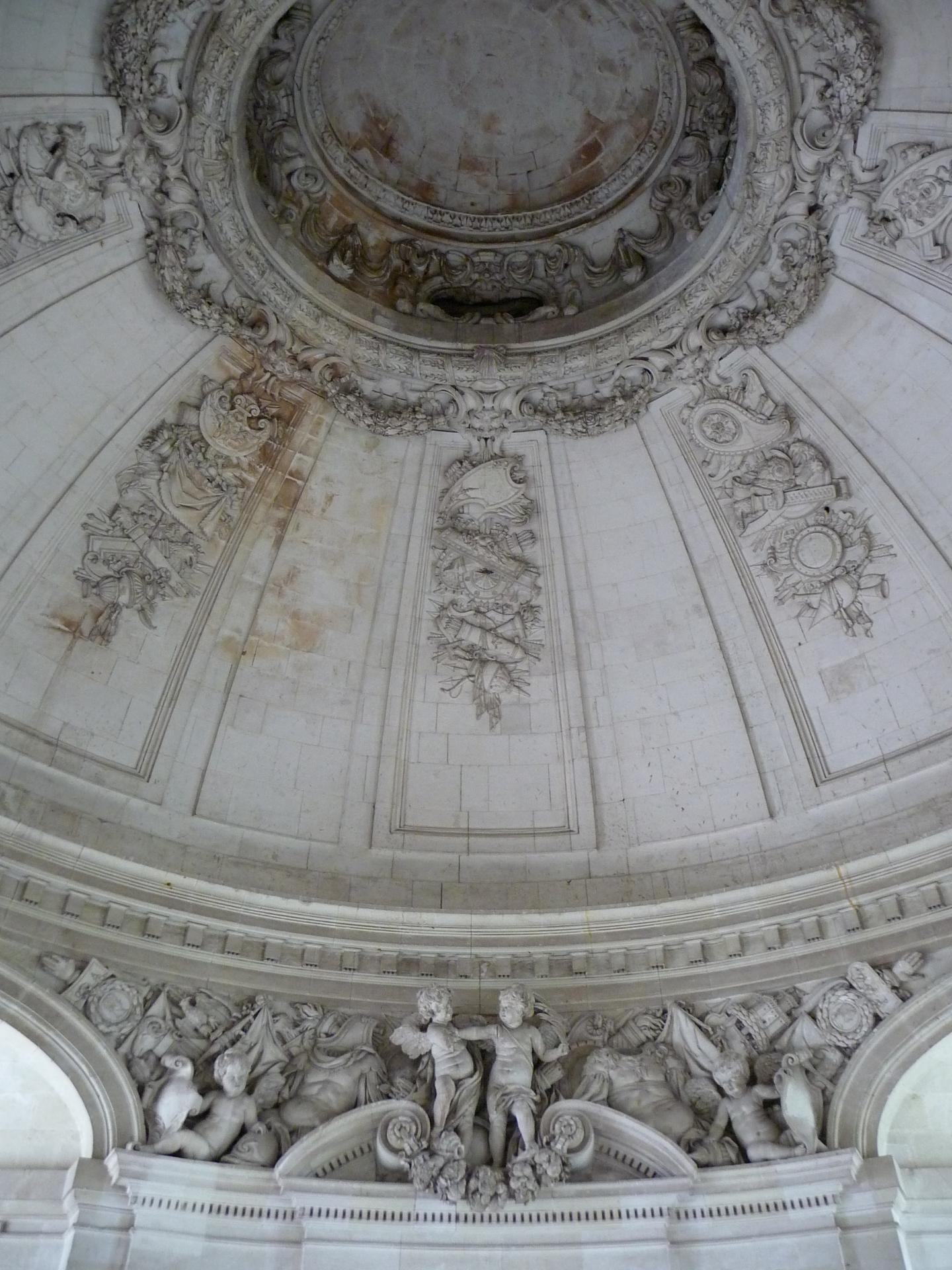 François Mansart, château de Blois, grand escalier, détail, 1635-1638, cl. Ph. Cachau