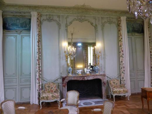 Mansart de Jouy, boiseries salon château d'Abondant