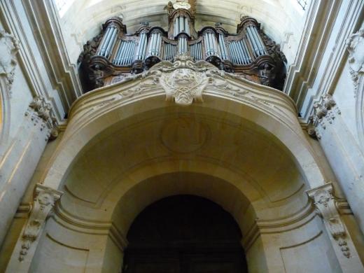 Mansart de Sagonne, tribune d'orgue, Saint-Louis de Versailles