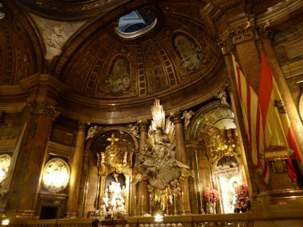 Saragosse, Nuestra Senora del Pilar, Sainte chapelle de l'Apparition de la Vierge, XVIIIe siècle, cl. Ph. Cachau