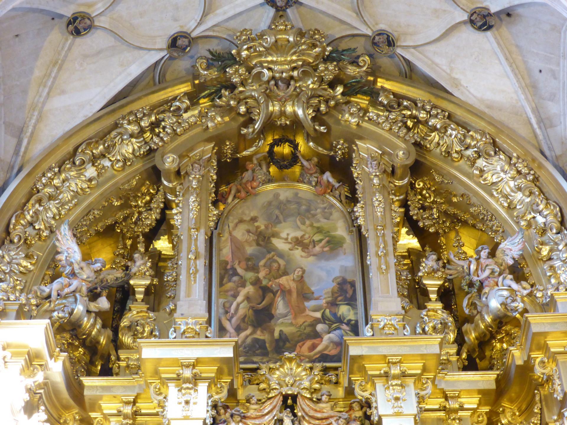 Retable du grand autel, XVIIIe siècle, détail, cl. Ph. Cachau