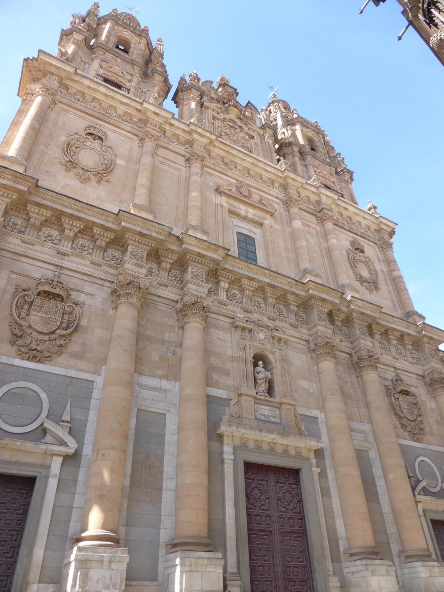 Façade de l'église jésuite de la Clerecia, XVIIe siècle, cl. Ph. Cachau