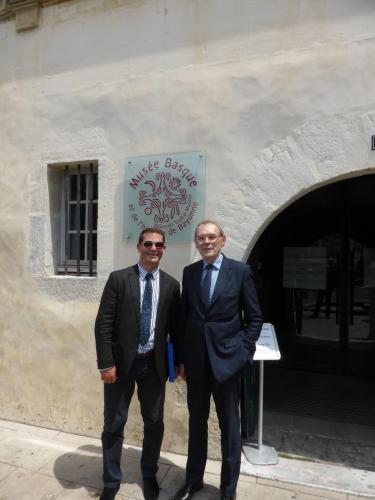 Philippe Cachau et Jean-Jacques Aillagon, juillet 2016