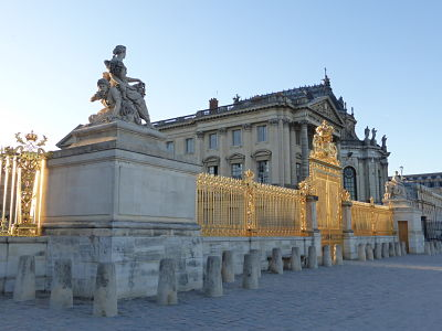 Château de Versailles, grille royale, 1678 (restituée en 2008), cl. Ph. Cachau