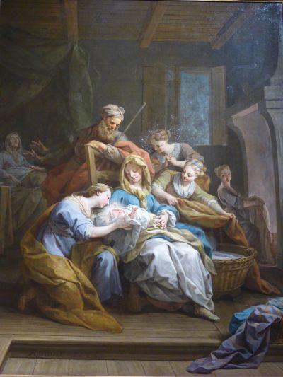 Jean Restout, La naissance de la Vierge, 1744 (cl. Ph. Cachau)