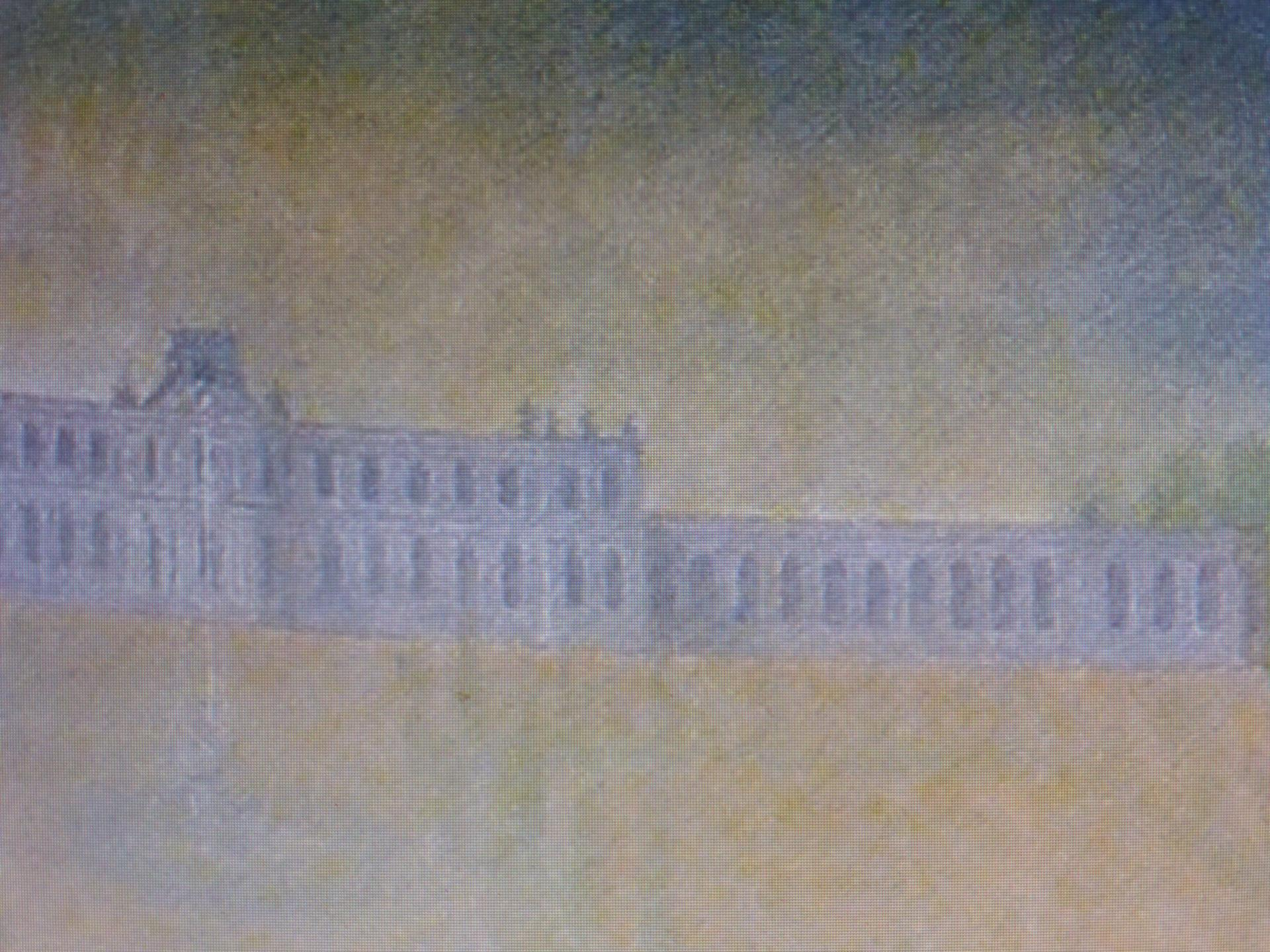 Le château de Jägersburg en 1757 (détail du tableau de Ziesenis), cl. Ph. Cachau