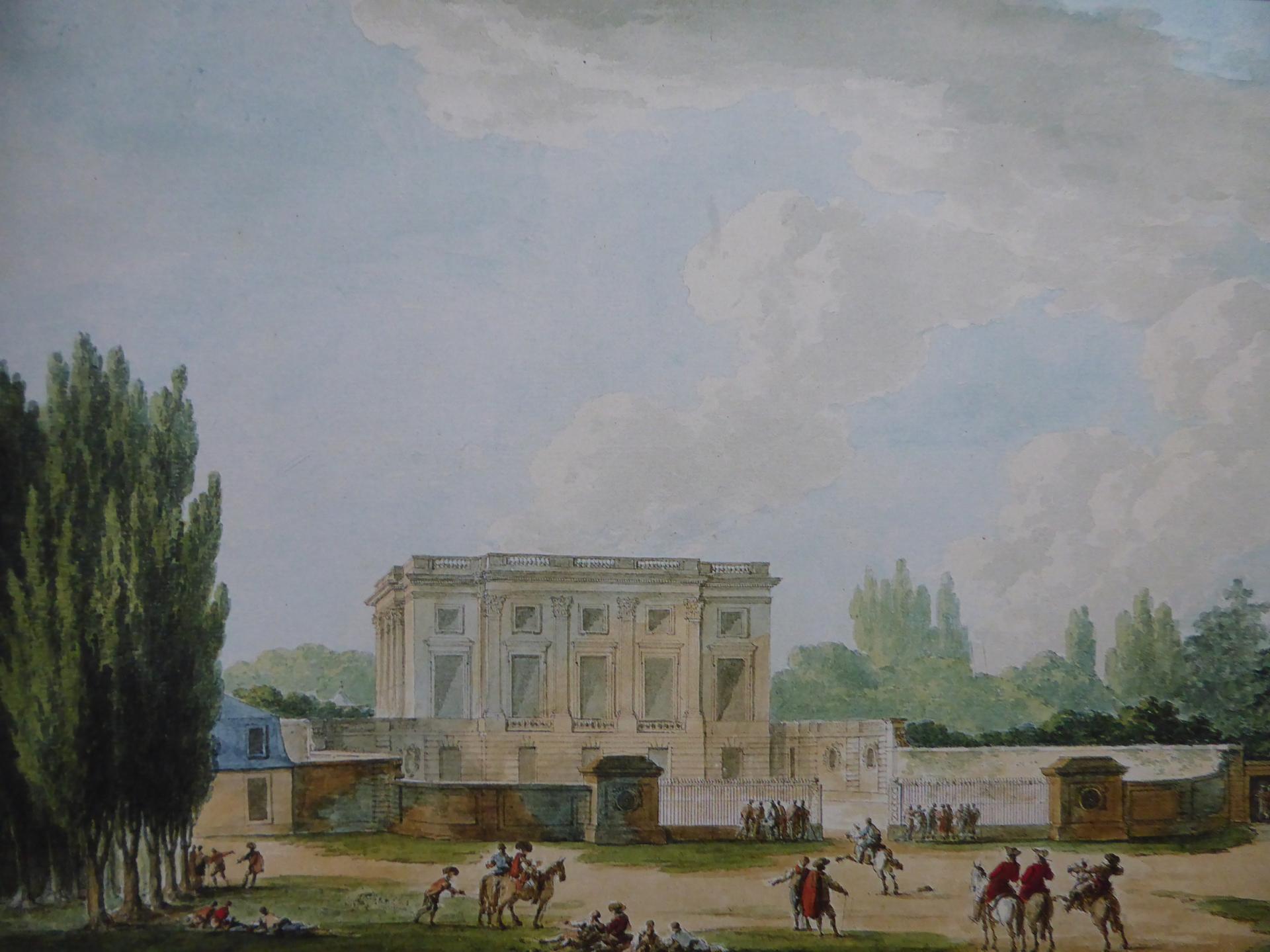 Claude-Louis Châtelet, Le Petit Trianon du côté de l'allée centrale, 1784, Parme