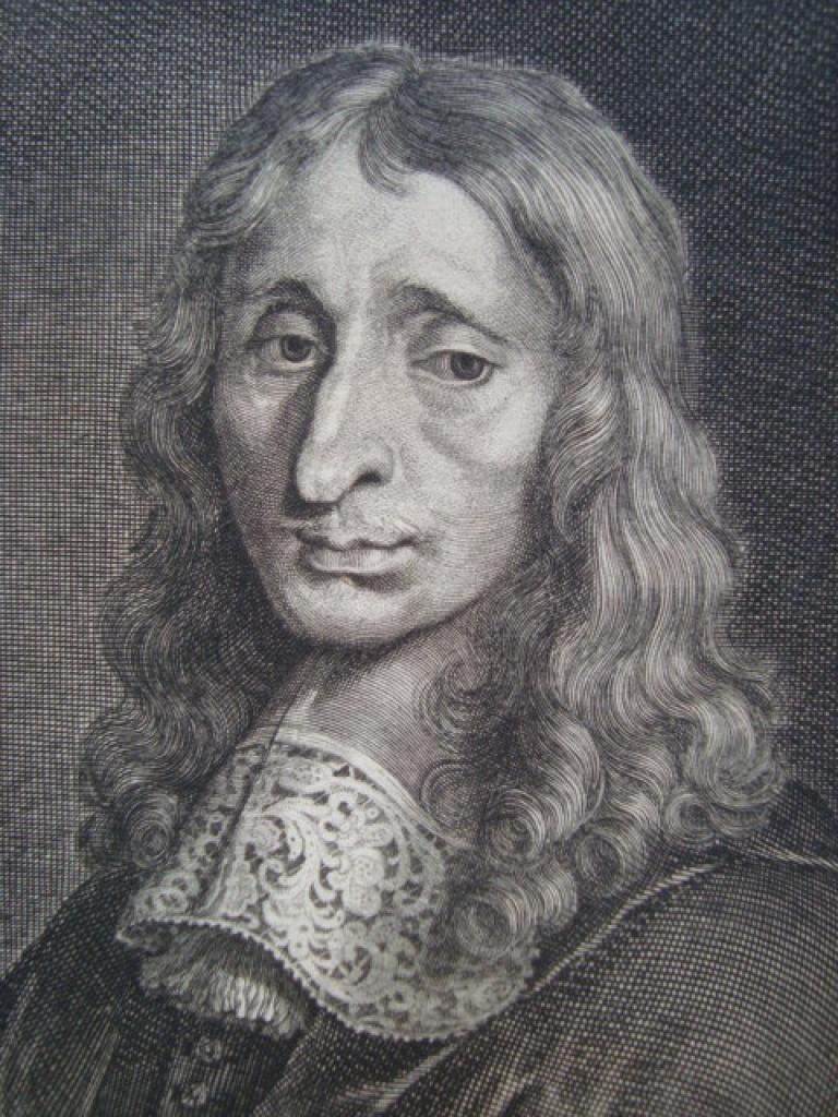 Edelinck : François Mansart, milieu XVIIe (détail)