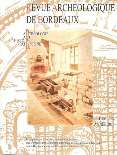 Revue archéologique de Bordeaux 2014 recto