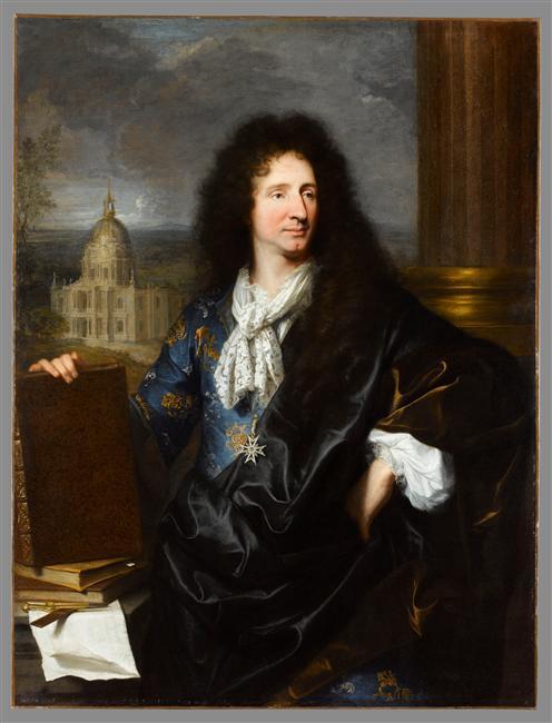 Hyacinthe Rigaud : Jules Hardouin-Mansart, 1685, Louvre-Lens