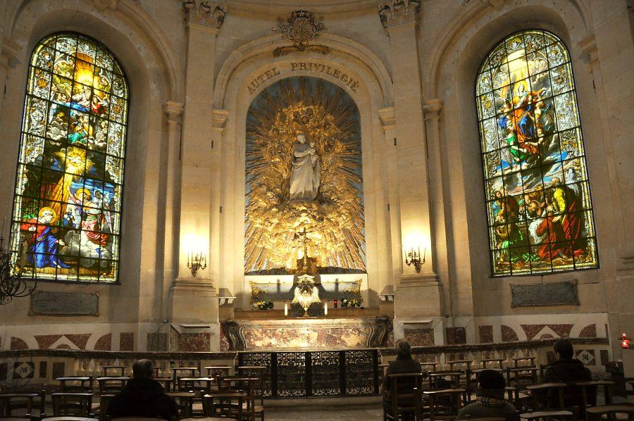 Cathédrale Saint-Louis, chapelle de la Vierge, années 1840